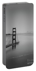 Portable Battery Charger featuring the photograph Fogging The Bridge by David Bearden