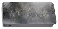 Foggy Alders In The Forest Portable Battery Charger
