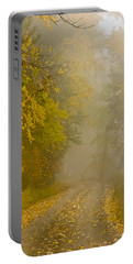 Foggy Autumn Morn Portable Battery Charger