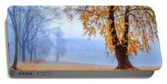Foggy Autumn Morning On Vistula Portable Battery Charger