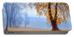 Foggy Autumn Morning On Vistula Portable Battery Charger