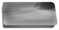 Foggy Beach Portable Battery Charger