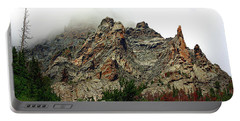 Portable Battery Charger featuring the photograph Colorado Mountain In Fog by Sheila Brown