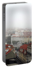 Foggy Day At Lisbon. Portugal Portable Battery Charger