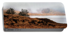 Foggy Day At Loch Arklet Portable Battery Charger