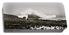 Foggy Day At The Coast Portable Battery Charger