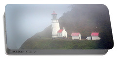 Portable Battery Charger featuring the photograph Foggy Day At The Heceta Head Lighthouse by AJ Schibig