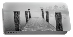 Portable Battery Charger featuring the photograph Foggy Dock In Alabama  by John McGraw