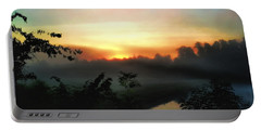 Foggy Edges Sunrise Portable Battery Charger