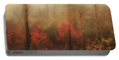 Foggy Fall On The Parkway Portable Battery Charger