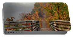 Foggy Fall Trail Portable Battery Charger