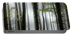 Portable Battery Charger featuring the photograph Foggy Forest by Chevy Fleet