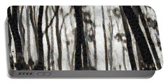 Foggy Forest Tree Paint Portable Battery Charger