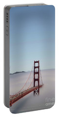 Portable Battery Charger featuring the photograph Foggy Golden Gate by David Bearden