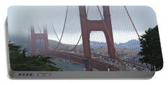 Foggy Golden Gate Portable Battery Charger by Margaret Brooks