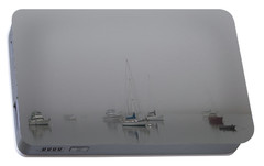 Portable Battery Charger featuring the photograph Waiting Out The Fog by David Chandler