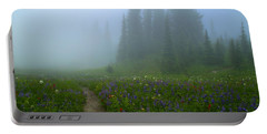 Portable Battery Charger featuring the photograph Foggy Morning At Tipsoo by Lynn Hopwood