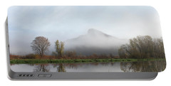 Foggy Morning Bluff Portable Battery Charger by Inspired Arts