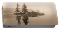 Foggy Morning Caution Portable Battery Charger