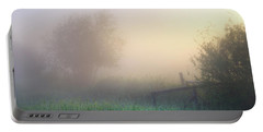 Foggy Morning Portable Battery Charger by Dan Jurak