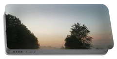 Portable Battery Charger featuring the photograph Foggy Morning In May by Maria Urso