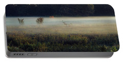 Foggy Morning Meadow Portable Battery Charger
