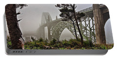 A Foggy Morning On Yaquina Bay Portable Battery Charger