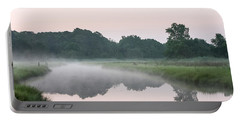 Foggy Morning Reflections Portable Battery Charger