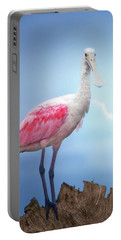 Foggy Morning Spoonbill Portable Battery Charger