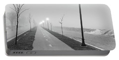 Foggy Morning Walk Portable Battery Charger