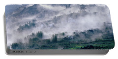 Foggy Mountain Of Sa Pa In Vietnam Portable Battery Charger