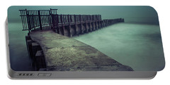 Foggy Night At Toes Beach Portable Battery Charger