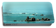 Sunny Blue Pacific Ocean Along The Oregon Coast Portable Battery Charger