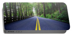 Foggy Oregon Road Portable Battery Charger