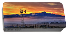 Foggy Spearfish Sunrise Portable Battery Charger