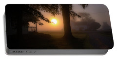 Foggy Sunrise Portable Battery Charger