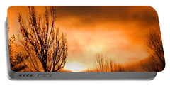 Foggy Sunrise Portable Battery Charger by Sumoflam Photography