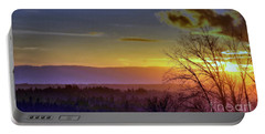 Foggy Sunset Portable Battery Charger