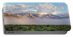 Foggy Teton Sunrise - Grand Tetons National Park Wyoming Portable Battery Charger