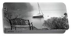 Portable Battery Charger featuring the photograph Foggy Tranquility by Betsy Zimmerli