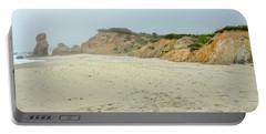 Foggy Vineyard Beach Portable Battery Charger