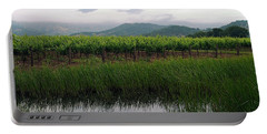 Foggy Vineyard Portable Battery Charger