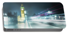 Foggy Westminster Bridge Portable Battery Charger