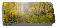 Foggy Winsor Trail Aspens In Autumn 2 - Santa Fe National Forest New Mexico Portable Battery Charger