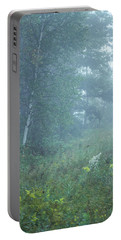 Foggy Wooded Meadow Portable Battery Charger