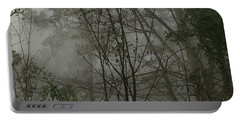 Foggy Woods Photo  Portable Battery Charger by Gina O'Brien