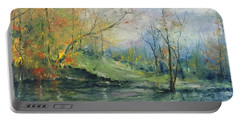 Foliage Flames On The River Portable Battery Charger