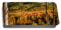 Foliage View From Crawford Notch Road Portable Battery Charger