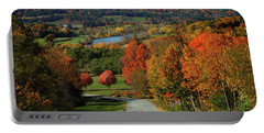 Foliage View Of Connecticut River From Piermont New Hampshire Portable Battery Charger
