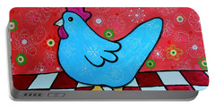 Folk Art Rooster Portable Battery Charger